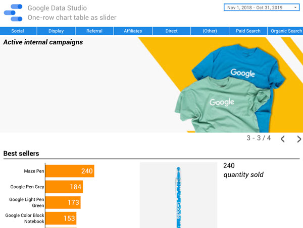 Google Data Studio - Slider